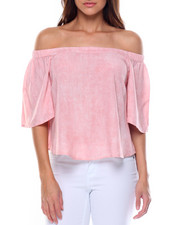 Fashion Lab - Tie Dye Print Off Shoulder Top