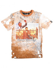 Arcade Styles - Nelson Mandela Vintage Print Extended Long Tee (8-20)