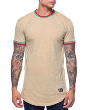 Men - S/S Nap Yarn Ringer Tee W Side Zip