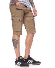 Men - Premium Biker Cargo Shorts W Zipper