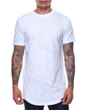 Shirts - S/S Elongated Washing Tee W Side Zip