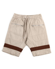 Shorts - Twill Shorts With Silver Zippers (8-20)