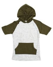 Boys - S/S Raglan Marled Hooded Tee (8-20)