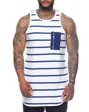 Men - Stripe Printed Long Tank Top (B&T)