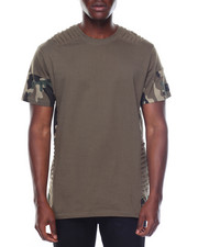 Men - S/S Camo Pin Tuck Tee