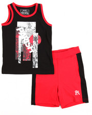 Sets - Tank Top & Sweat-short Set (2T-4T)