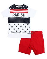 Parish - Tee & Twill Short Set (2T-4T)