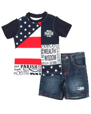 Sets - Tee & Denim Short Set (2T-4T)