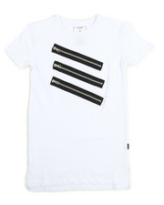 Boys - S/S Tee With Silver Zippers (8-20)