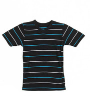 Boys - S/S 2 Tone Stripe V-Neck Tee (4-7)