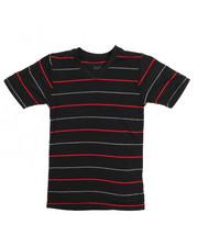 T-Shirts - S/S 2 Tone Stripe V-Neck Tee (4-7)