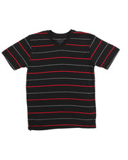 Boys - S/S  2 Tone Stripe V-Neck Tee (8-20)