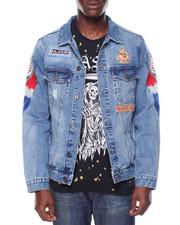 Denim Jackets - Native Skull Denim Jacket