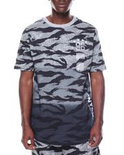 Shirts - Scoop Hem Tiger Print Tee