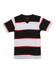 Boys - S/S Stripe V-Neck Tee (4-7)