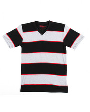 Boys - S/S Stripe V-Neck Tee (8-20)