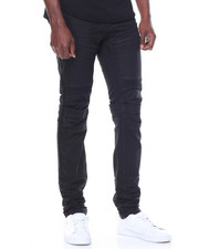 SMOKE RISE - Front - Pocket Moto Denim Jeans