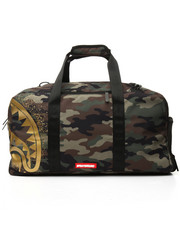 Accessories - Gold Stencil Shark Camo Duffle Backpack