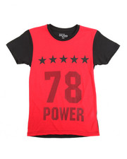 Boys - Crew Neck Contrast Number Tee (8-20)