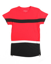 Boys - Zipper Crew Neck Colorblock Tee (8-20)