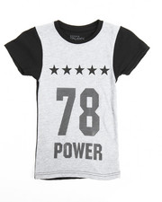 Boys - Crew Neck Contrast Number Tee (4-7)