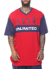 Ecko - Warm Up Short Sleeve V-Neck Tee (B&T)