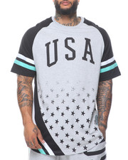 Big & Tall - Usa Raglan Sleeve Tee (B&T)