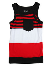 Boys - Yarn Dyed Stripe Tank Top (4-7)