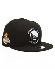 Men - 9Fifty Golden State Warriors Black & White 2017 Champions Patch Hat