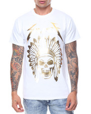 Men - S/S Skull Savage Gold Foil Tee