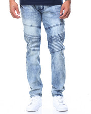 Men - Pleated Knee Jeans