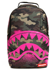Women - Pink Stencil Shark Camo Backpack