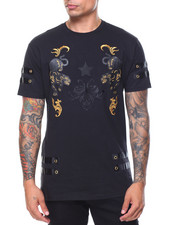 Men - Panther Embroidery/Gold Trim Top