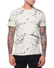 Men - Pattern Printed S/S Ripped Tee