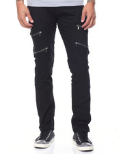 Jeans - Moto Jeans With Zippers