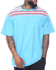 LRG - Weekend Stripe Knit Pocket Tee (B&T)