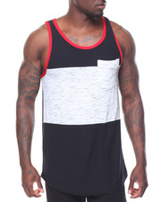Men - Slub Colorblock Tank