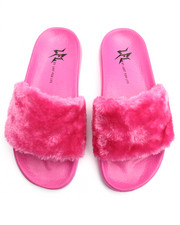 Women - Smooth Faux Fur Slide