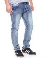 Jeans - Embroidered Flap Pkt Denim