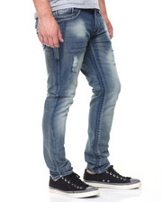 Jeans & Pants - Embroidered Flap Pkt Denim