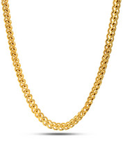 King Ice - 14k Gold Stainless Steel Franco Chain