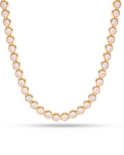 Men - 14k Gold 6mm Bezel Necklace