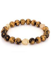 King Ice - Onyx Gold Dragon Buddha Bead Meditation Bracelet