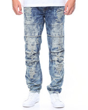 Jeans & Pants - Pleated Knee Rip & Repair Denim