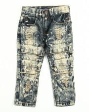 Arcade Styles - Rip Knee Moto Jeans (2T-4T)
