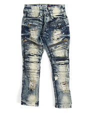Arcade Styles - Moto Denim Jean With Zippers (4-7)