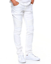 Men - LaGuardia White Moto Jeans