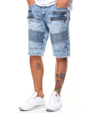 Buyers Picks - Moto - Style Zipper Denim Shorts