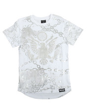Boys - S/S Graphic All Over Foil Print Tee (8-20)