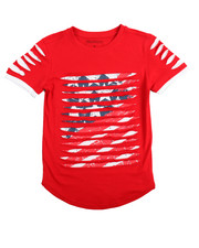 Boys - Americana Razor Slashed Tee (8-20)